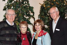 PebbleCreek Community Church welcomed new members in a service on December 14, 2014; left to right are Hal and Judy Merwald and Paul and Gloria Alex.