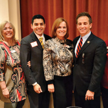 Left to right: Anne Gregerson, vice president, Bari Cavello, secretary, House Majority Leader Steve Montenegro, Linda Migliore, president, House Ways and Means Chair Darin Mitchell and Sue Harrison, immediate past president.