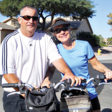 After working hard as pickleball president for two years and overseeing 12 new courts coming online, Bill Pardue, along with his wife Linda, will have a bit of free time to bicycle around the campus.