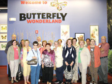 PebbleCreekers of Unit 27A visit Butterfly Wonderland.