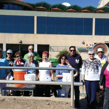 And they're off! Members of the PC Singles Club enjoy a day at the races on February 11 at Turf Paradise.