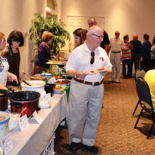PC Italian Club members and guests enjoying the abundant selections at the February Regional Cooking Day! Mangiare!