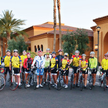 Arizona Flats bicyclists complete their Century Ride.