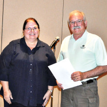 Priscilla Wardlow accepts her award.