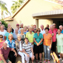 Relatives, friends and neighbors gathered to celebrate Flossie's birthday.