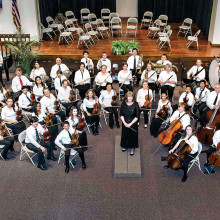 The West Valley Youth Orchestra under the direction of Claire Gordon.