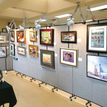 163 pieces of art and woodcarvings were on display.