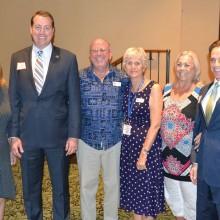 Left to right: Linda Migliore, President, Arizona State Treasurer Jeff DeWit, Chaplain John Parsons, Vice President Ann Gregerson, Bari Cavallo, secretary and Arizona State Representative Darren Mitchell
