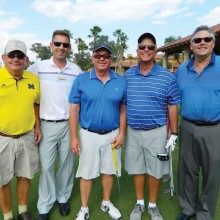 Match Play Overall Winners, left to right: Jerry Treece (PCMGA VP), Jason Whitehill (Director of Golf), Kermit Reich and Bob Millikan (Match Play Overall Winners) and General Manager Bill Barnard