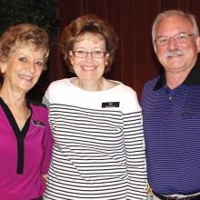 Patrol Director John Singleton, Employee of the Month Sue Tanner and HOA Board President John Kiekbusch