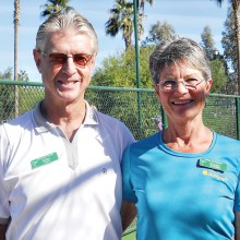 Outgoing 2015 President Mike Crabtree and wife Sandy. Both are tournament players and Sandy is co-captain of the Ladies' Ladder.