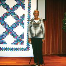 Beverly Mitchell, winner of the 2015 Opportunity Quilt Irish Stone Creek