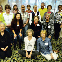 Back row: Joyce Roemersberger, Maria Murray, Linda Erkkila, Tom Roemersberger and Esther West; row 3: Susie Unklesbay, Sheldon Tencer, Jackie Havranek and Connie Snyder; row 2: Patti Hedgspeth, Leslie Lowery and Thelma Svoboda; front row: Instructors: Johanna Kaufman, Janet Day and Nancy Hume. Not pictured is Janis Korba, instructor.