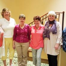 Left to right: Shawnee Robison, Judy Shaffer, Rhissa Pontrelli, Bobbie Ence, Judy Ashley and Kathy Weldon; photo by Anita Asp