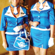 Member-Member Costume Contest Winners: Debbie Barbe (left) and Pam Smith