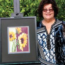 Nancy Stifter with Sherri's Sunflowers