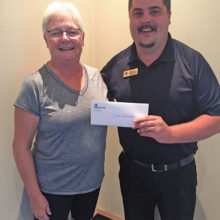 Claudia Lancaster is the lucky winner of the July PebbleCreek comment card prize drawing!