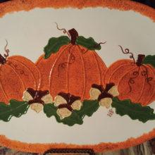 You can make this pumpkin platter.