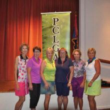 Some of Flight 2, First Place winners: Nancy Kyle, Vera Ilsley, Joanne Pollock, Pam Volm, Carol Langhardt, Jenna Ridgeway