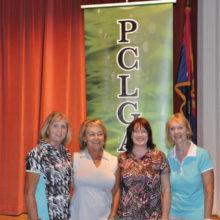 Flight 3, First Place winners: Nancy Dusenbery, Renate Lampkin, Linda Herzig, Carol Taylor