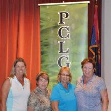 Flight 4, First Place winners: Lisa Ingraham, Irene Bates, Kathleen Carney, Geanie Aldridge