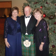 Greeters at the Irish-American Club Christmas Ball were clad in kilts.