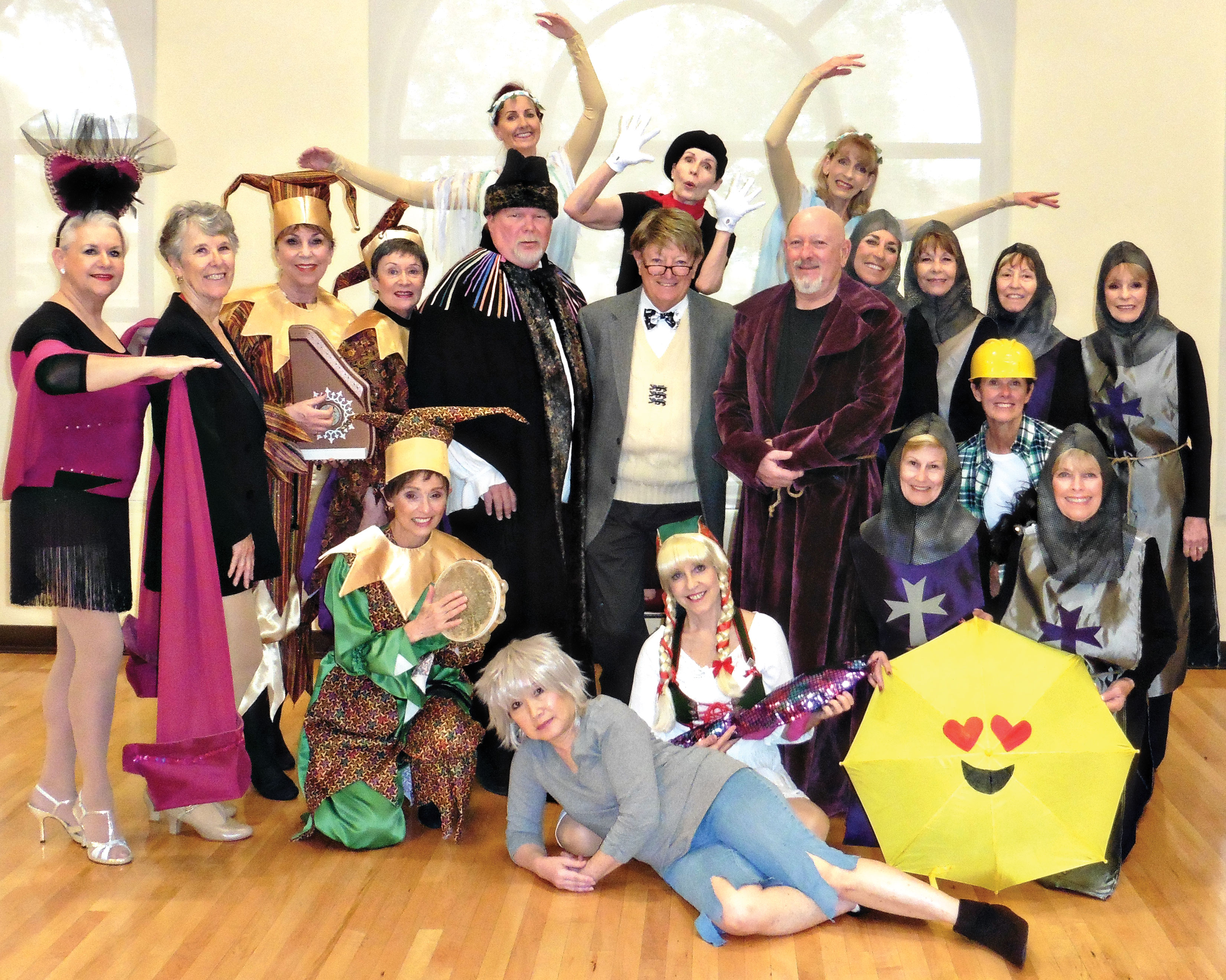 Some of the Spamalot crazy characters