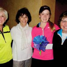 Memory Matters Falls First Place Team — Joyce Rustman, Marielle Ramsey, Brooke Veres (MHS), Charlotte Krause