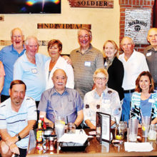 The Cribbage Club celebrate their annual dinner.