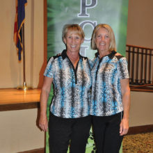 Flight 1 Overall Winners: Patty Brown and Kathy Enegren