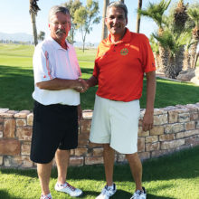 PCM9GA Club Champion Gerald Sota (left) and Low Net Winner Mike D'Onofrio