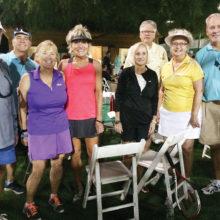 Left to right: Richard Tighe, Donna Gillen, Jeff Gillen, Tori Benz-Hillstrom, Linda Hussey, Tom Buck, Bev Buck, and Bill Hussey