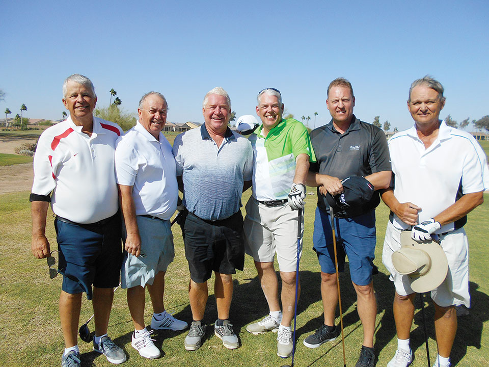 Flight Winners, left to right: Bob Millikan and Kermit Reich, Cort Wyss and Larry Mickelson and Scott Brunt and Bill Anderson