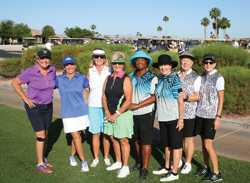 Left to right: Ellen Enright, Marilyn Reynolds, Linda Thompson, Arlene Engelbert, Carolyn Suttles, Jane Hee, Sue Harrison, Kearin Kasper