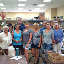 The 12 participants of the August Handmade Pottery Class