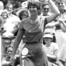 Tournament honoree Donna Caponi