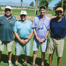 Shamble winners, left to right: Erv Stein, Jim Quattrone, Rick Goodwin and Tom Pizzello