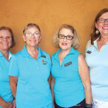 PCL9GA Officers—-Loreen Greer, treasurer; Patty Greene, president; Barbara Hockert, president-elect; Melissa D'Onofrio, secretary