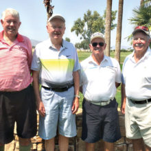 Senior Division Qualifiers, left to right: Bill Todd, Mike Moy, Bruce Carlyle and Butch Schoen