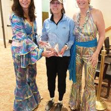 Senior Low Net winner, Karen Poturalski, with Julie Greek and Karen Stadjuhar.