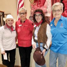 Tuscany Falls East Front Nine first place team: Sandy Padgitt, Betty Klattenhoff, Mary Lynne Carson, Linda Weatbrook.
