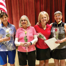2019-2020 officers: Meg Chrisman, Ruth Ann Mitchell, Bobbie Wagner and Norma Guillaume