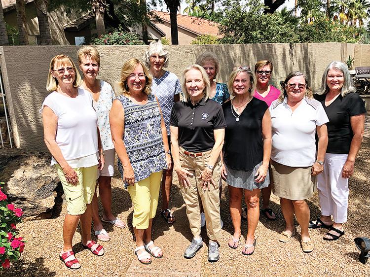 PCLGA Board 2019-2020, front row (left to right): Linda Thompson, Judy Layton, Barbara Patrow, Linda Sweet, Layne Sheridan, Carol Sanders; Back row: Deb Smedley, Claudia Tiger, Judy Hauser and Vicki Ray