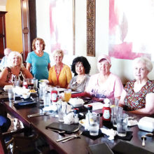 Left to right: Indy Rebhun, Gerri Einfeldt, President Bari Cavallo, Nancy Phipps, Arlene Engelbert, Social Chair Cristina Junge, VP Sue Harrison, Paula Westermeyer, and Judy Gallob; Missing: Carolyn Moore, Lindsay Laven, and Nevin Nelson.