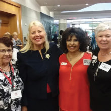Left to right: PCRC member Joanne Netols, CD8 U.S. House of Representative Debbie Lesko, Social Chair Cristina Junge, and PCRC VP Sue Harrison.