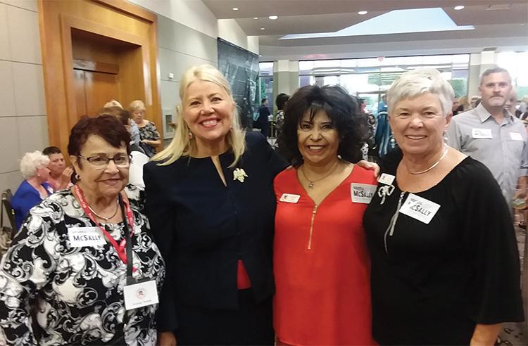 Left to right: PCRC member Joanne Netols, CD8 U.S. House of Representative Debbie Lesko, Social Chair Cristina Junge, and PCRC VP Sue Harrison.