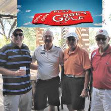 PCM9GA Goofy Golf winning team: John Craven, Russ Georgesen, Jack Tulaba, and Joe Emery.