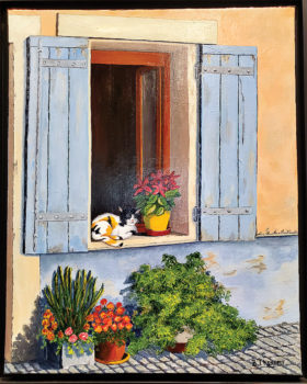Acrylic painting by Betty Jean Kennedy.