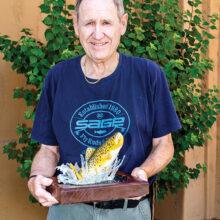 Lyle Chrisman and his Apache trout.