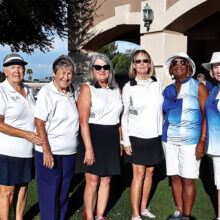 Left to right: Sue Harrison, Louise Levanti, Carol Sanders, Linda Thompson, Carolyn Suttles, and Jane Hee.